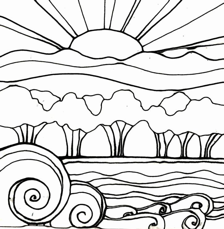 Sunset Coloring Pages For Adults Fresh Printable Sunset Coloring Pages Sketch Coloring Page Art Art Fundraiser Coloring Pages