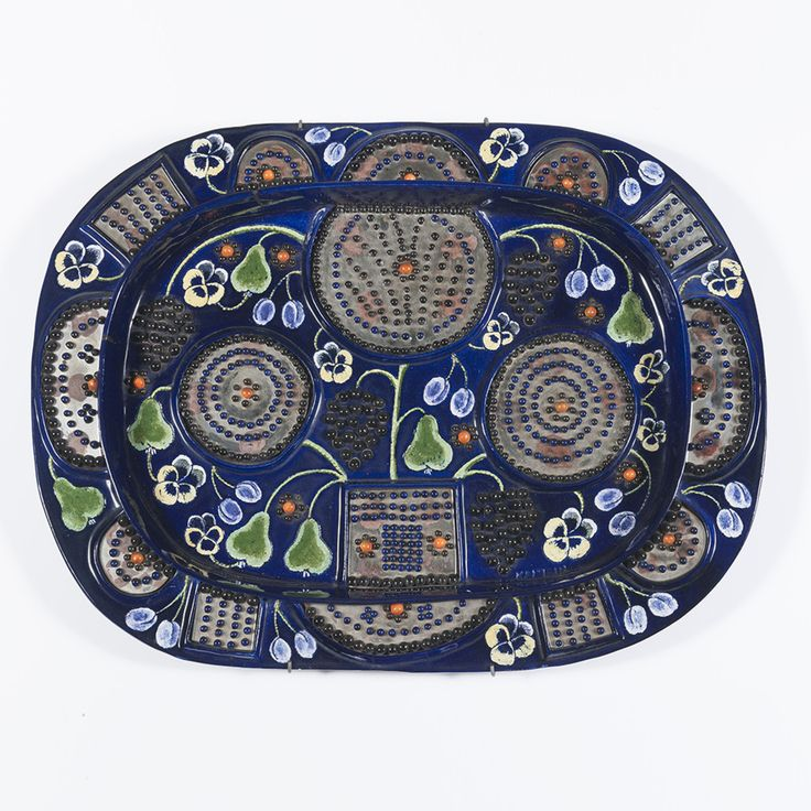 Birger Kaipianen; Glazed Ceramic Plate for Arabia, c1950.