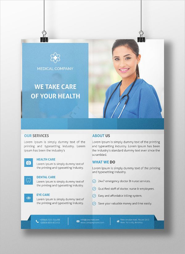 medical flyer design template flyers flyer template templates
