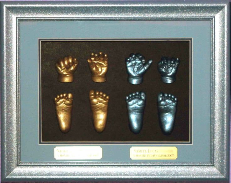 3D Impressions of Twin Full Set of hands and feet each. www.fmni.com.au https://www.facebook.com/pages/Forget-Me-Not-Impressions/105458717541?ref=hl