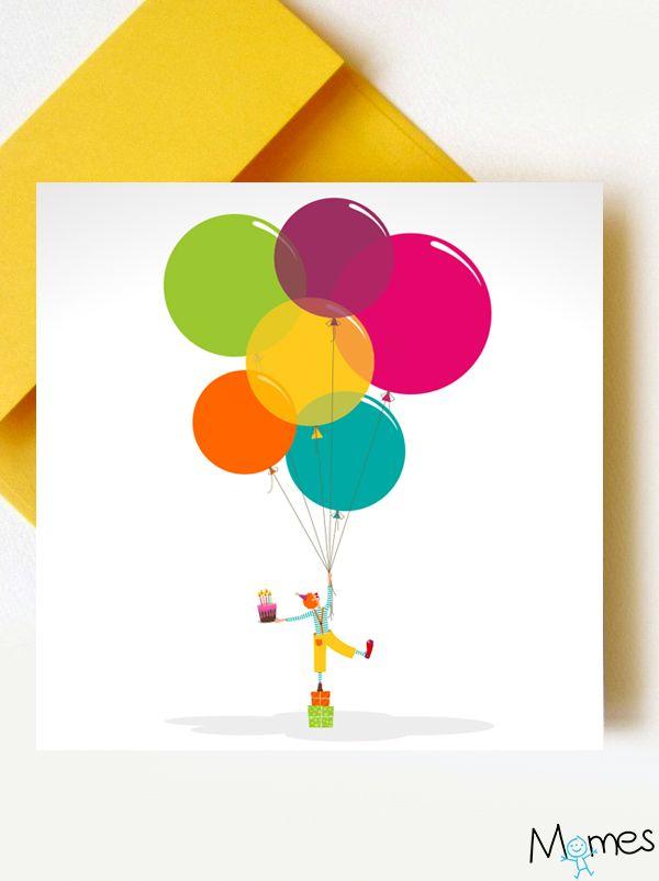Carte anniversaire cirque à imprimer