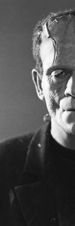 Frankenstein's monster as portrayed by Boris Karloff in 'Bride of Frankenstein', 1935.