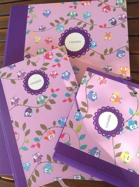 Carpeta de anillas, cuaderno y pequeña carpeta de gomas