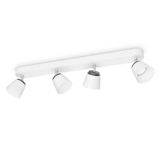 Philips - 533443116 - Plafonnier 4 têtes Dender - Blanc            Philips Spot     Couleur: Blanc     Usage adapté: Intérieur     Pièces: Chambre à coucher, Salon     Type d'ampoule: LED     Flux lumineux: 1320 lm     Puissance de l'ampoule incluse: 4 W     Type de source d'alimentation: Courant alternatif     Tension d'entrée: 220-240     Fréquence d'entrée: 50/60     Hauteur: 13,7 cm     Largeur: 8,2 cm     Poids: 1,28 kg     Hauteur du colis: 63,8 cm     Large...
