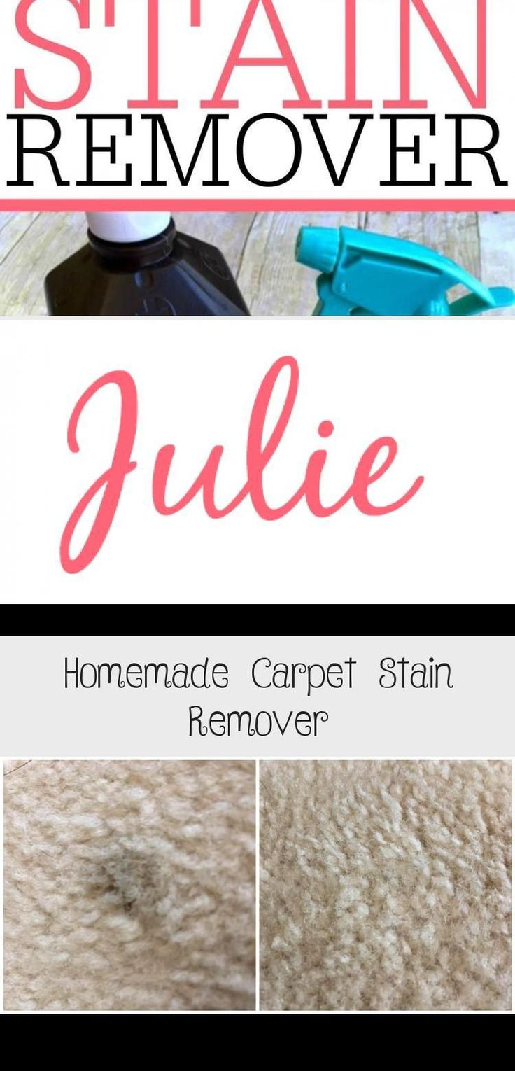 Get rid of carpet stains with this easy to make homemade