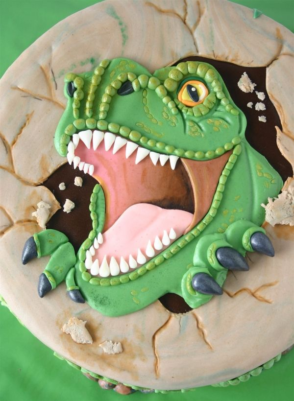 T Rex What Little Boy Would Not Love This For His Birthday Cake