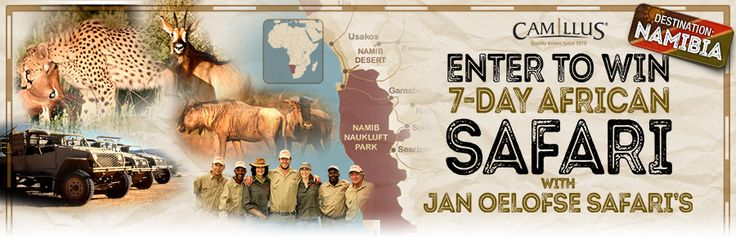 Win a hunting vacation in Namibia on Camillus Knives - African Safari Hunt Giveaway