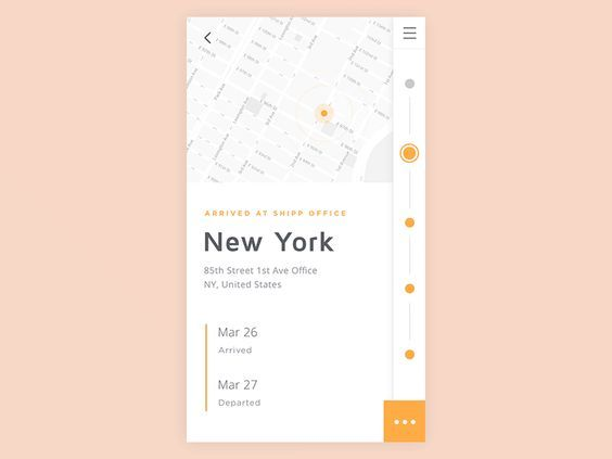 UI animation mettant en scène un parcours de suivi de livraison via une map et…