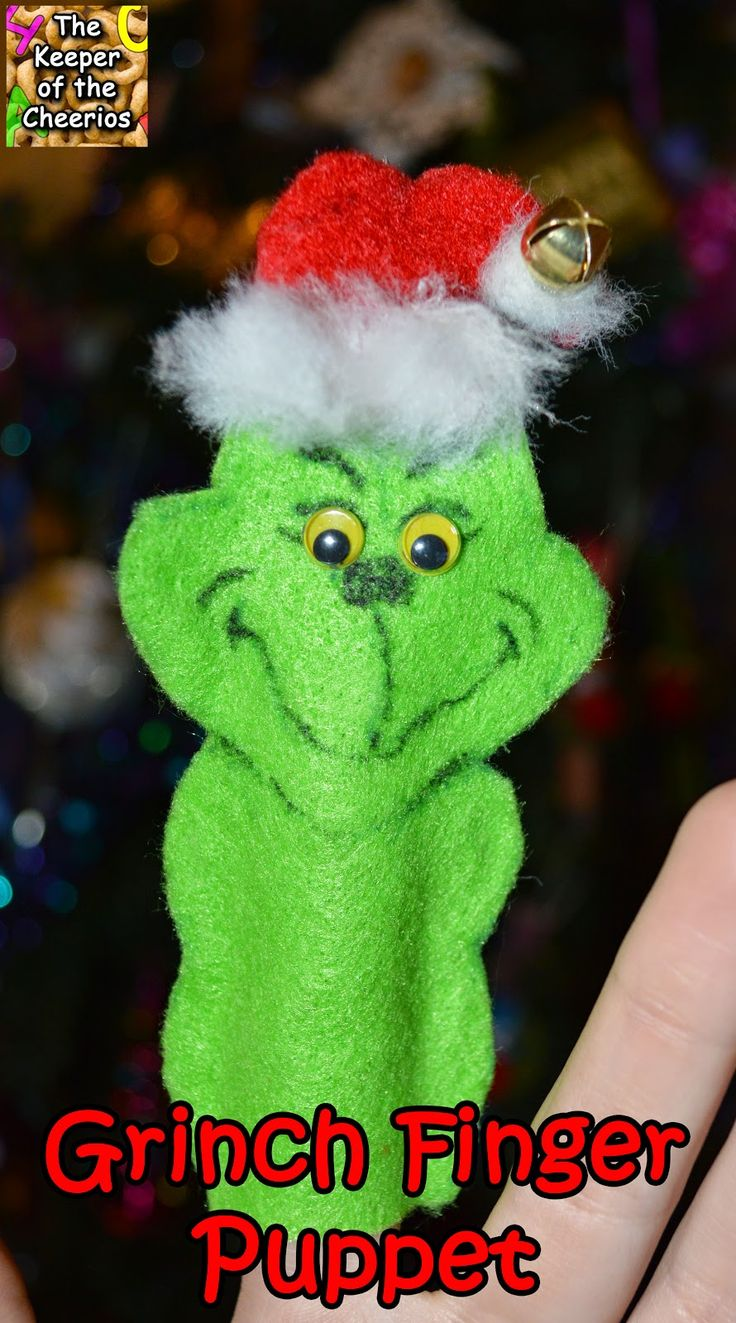 The Keeper of the Cheerios: Grinch Finger Puppet