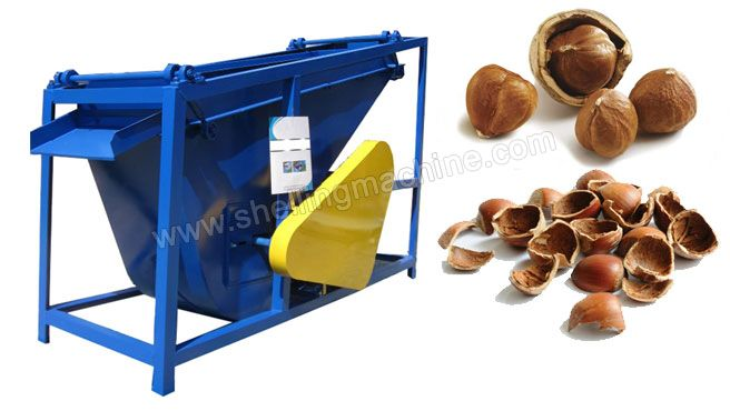 http://www.shellingmachine.com/product/cracking-shelling-machine/hazelnut-shelling-machine.html 1000 kg/h Hazelnut Kernel Separating Machine Hazelnut shelling machines can crack hazelnuts in different size at one time. Different hazelnuts are screened by sizing decks in hazelnut shelling machine and then cracked by proper pressure. E-mail: info@shellingmachine.com