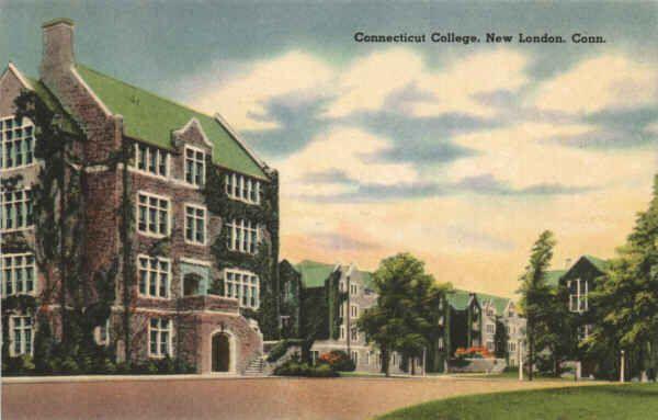 1930's #Vintage Postcard of Connecticut College