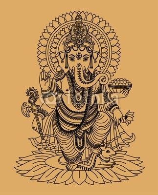 Vecteur : Indian God Ganesha For Gidgets Table Iu0027m Making Her