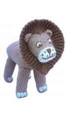 Doudou lion tricoté à la main