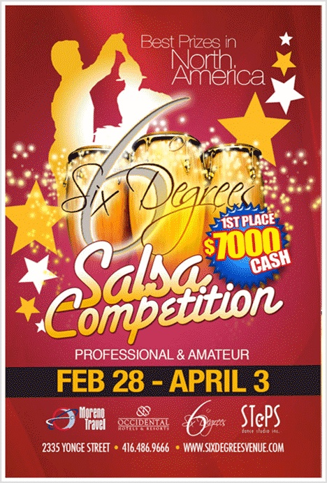 With a prizes totaling over $20,000, the Six Degrees Salsa Competition attracts some of the best salsa dancers in the world.