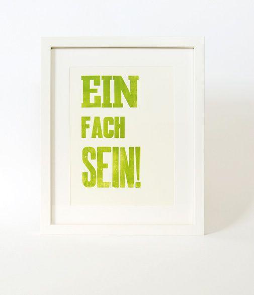 """Druck """"Einfach sein"""" // Print """"Simply be"""" by monas_DickyBird via DaWanda.com"""