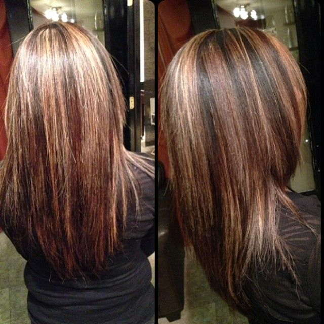 Medium Brown Hair With Lowlights: #highlights #lowlights
