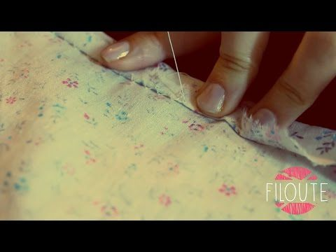 Couture à la main - Le point invisible - YouTube