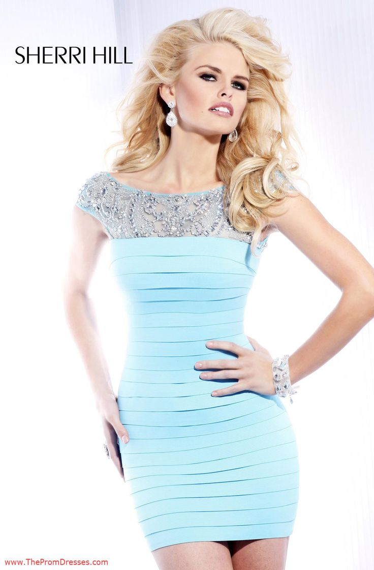 Baby Blue Short Tight Prom Dresses_Prom Dresses_dressesss