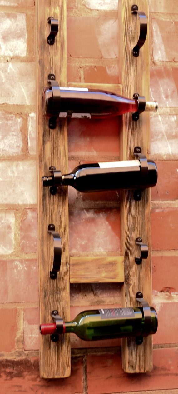 The Sonoma Wall Mount Wine Rack by 413Collections on Etsy, $70.00 - Need this!