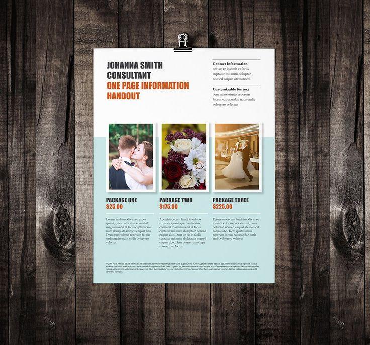 "One Page Brochure Template - ""Escape"""