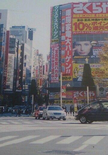 新宿駅東口。2000年。