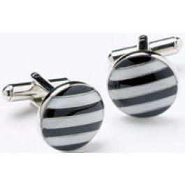 Black and White Stripes Cufflinks