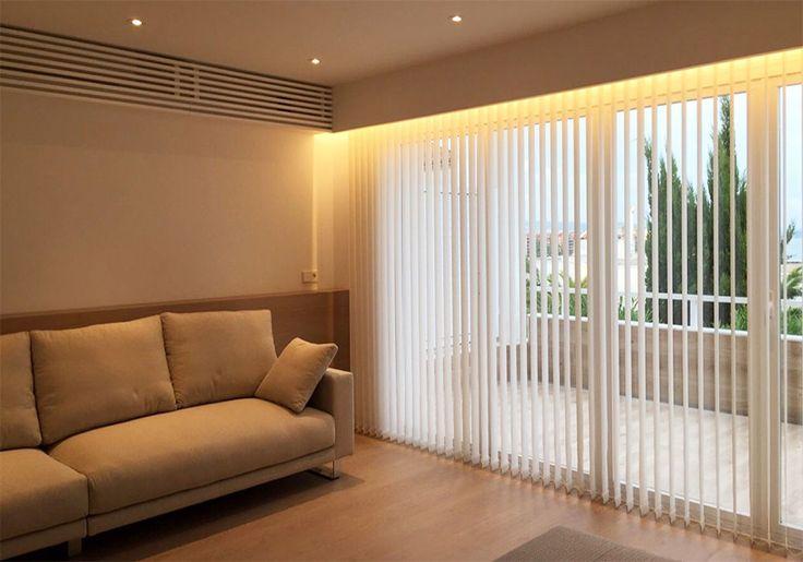 Cortinas verticales en salones. ideas para las cortinas del salón.