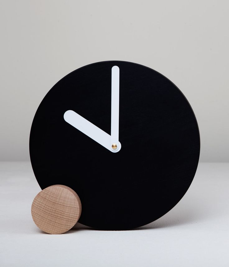 CIRCLOCK BLACK_wooden clock_Daniele Bortotto_Just99