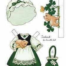 Irish Paper Doll Clothes