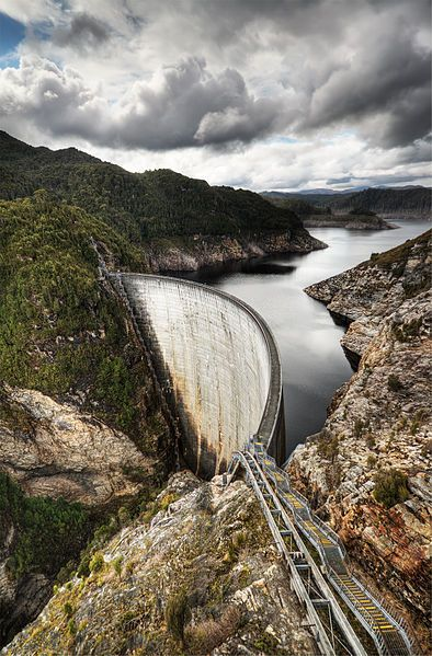 Gordon Dam, Southwest National Park, Tasmania, Australia ..... wow architecture