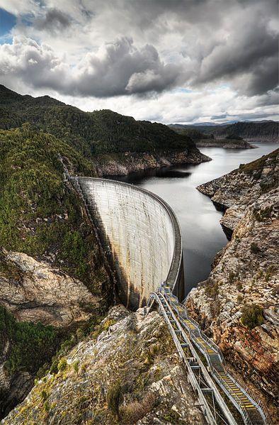 Gordon Dam, Southwest National Park, Tasmania, Australia