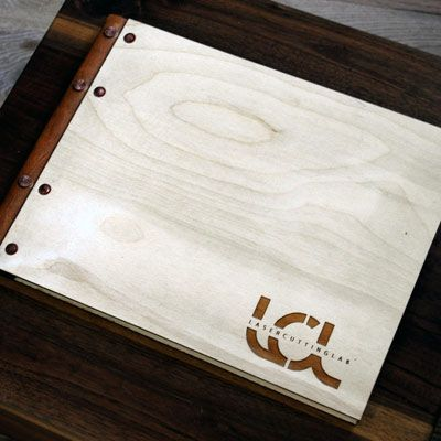 Wood and Leather Portfolios with Custom Laser Engraving