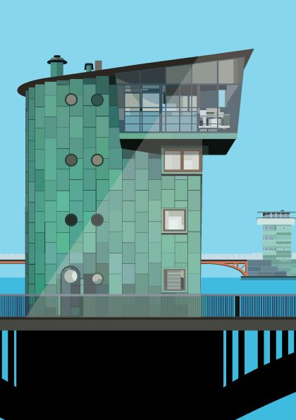 Langebro and Knippelsbro illustration by #Sivellink