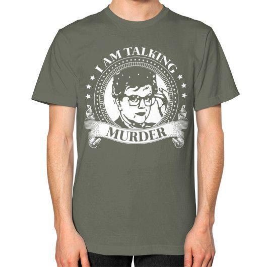 I AM TALKING MURDER Unisex T-Shirt (on man)