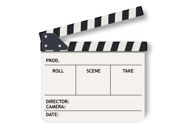 White Film Clapperboard Slate Cool Stickers Film Slate