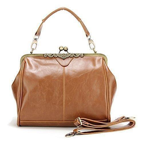 Oferta: 14.99€. Comprar Ofertas de Bolso Mujer Chica Bandolera Mano Cruzado Marrón Retro Shoulder Bag Handbag barato. ¡Mira las ofertas!