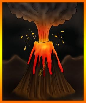 How to Draw a Volcano, Step by Step, Stuff, Pop Culture, FREE Online Drawing Tutorial, Added by Dawn, November 1, 2008, 7:03:18 pm