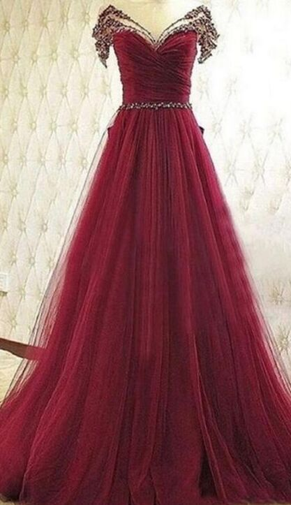 Women Dresses,Prom Dresses For Teens,Plus Size Prom Dresses, Burgundy A-line Prom Dreses,High Low Beaded Handmade Prom Gowns,Long Prom Dress,Formal Evening Dresses,Beautiful Princess Party Dresses