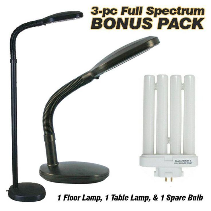 lampsusa full spectrum floor lamp desk lamp and es101blk 201 bulb. Black Bedroom Furniture Sets. Home Design Ideas