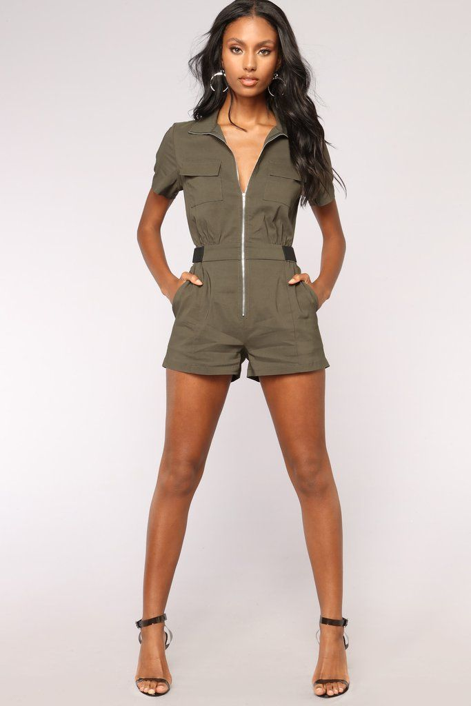 7bbb9643b20 Overload Cargo Romper - Olive in 2019