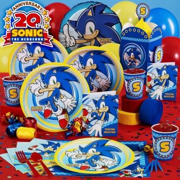 Sonic the Hedgehog Birthday Party-no longer available on their site, but some on Amazon...