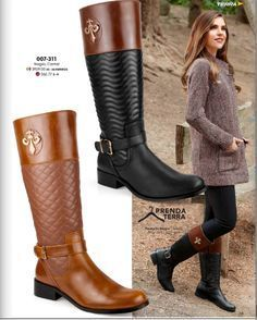 Botas estilo ecuestre. Botas de tubo alto para otoño invierno. Botas de mujer, botas de moda, botas altas para dama. Coleccion Terra 2016