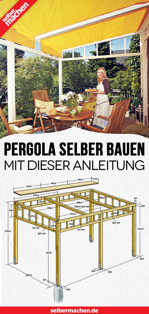 Pergola bauen: Gratis-Anleitung – Selber Machen