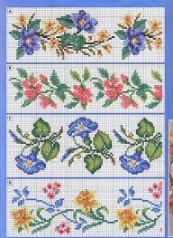flores em ponto cruz - Pesquisa Google