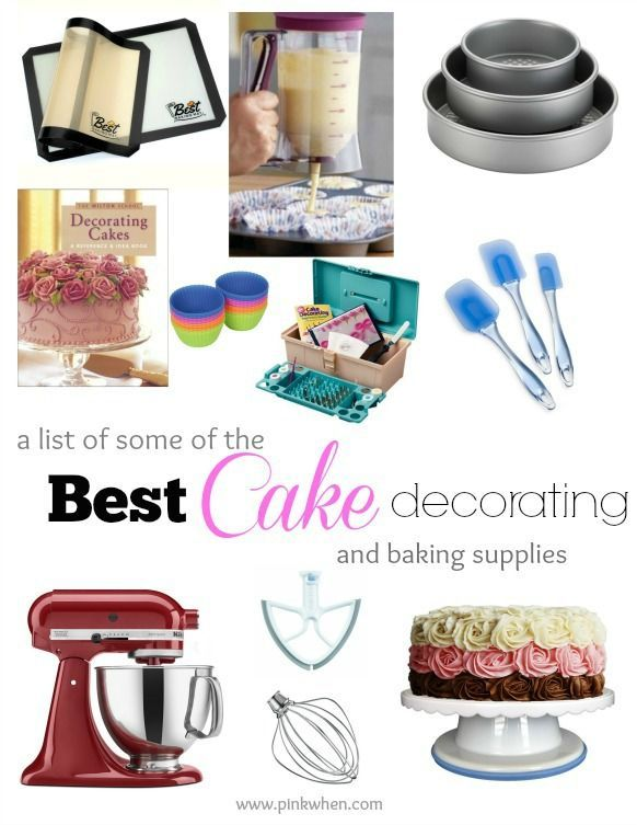 Kitchen tools and baking supplies  you want on hand! (Perfect list for Christmas presents or birthdays!)
