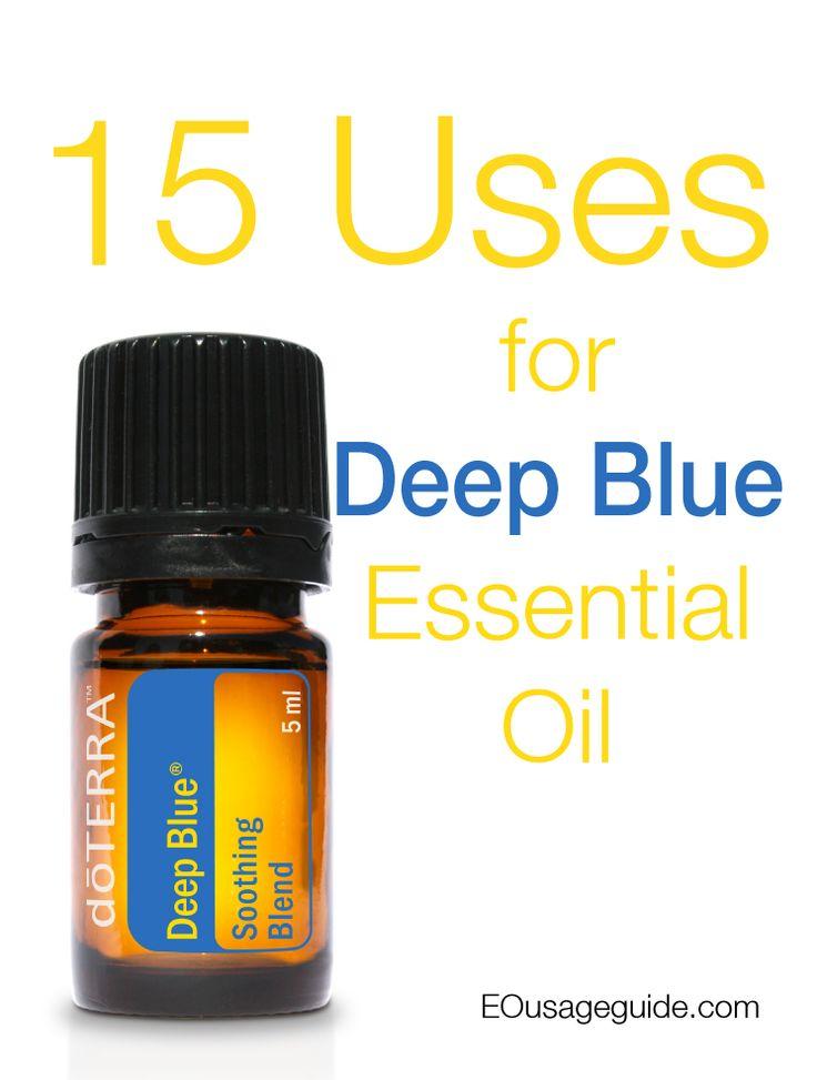 15 uses for Deep Blue essential oil #deepblue