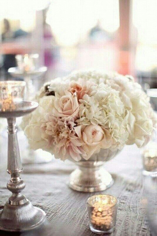 Blush Tablescape and touch of metallic