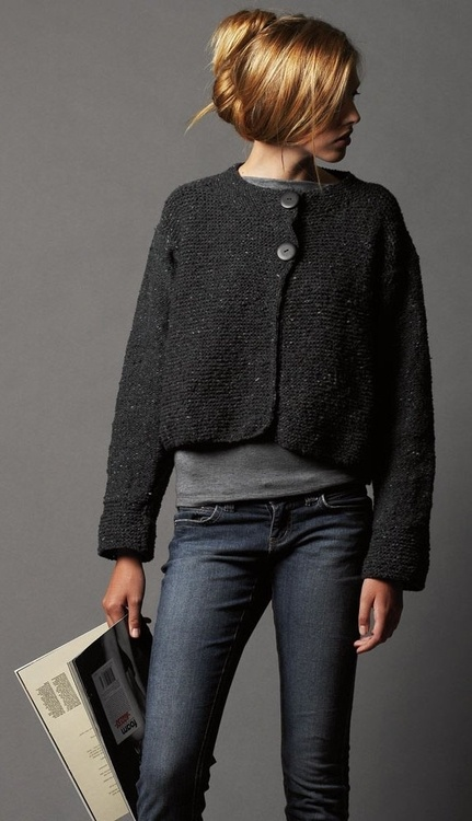 9 best images about Ladies garter stitch cardigan on ...
