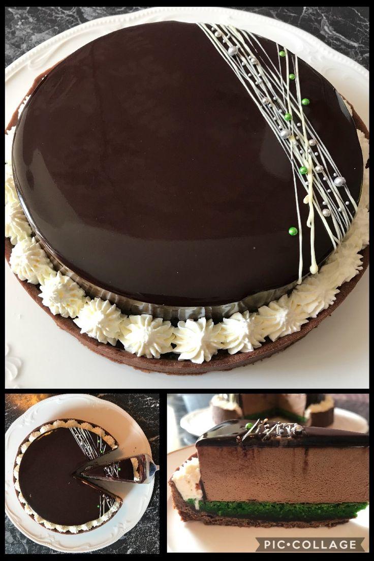 Schokotarte#schokomousse#pistazienKokos/lecker#chocolate mousse/ pistachios # chocolate tart/ chocolate mirror glaze