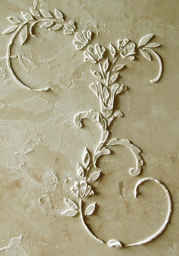 Hey, I found this really awesome Etsy listing at https://www.etsy.com/listing/101409588/raised-plaster-dresden-stencil-wall